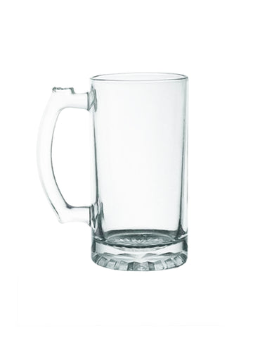 16 oz Glass Beer Mug- Clear