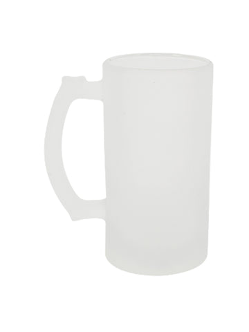 16 oz Glass Beer Mug - Frosted (12 pieces)