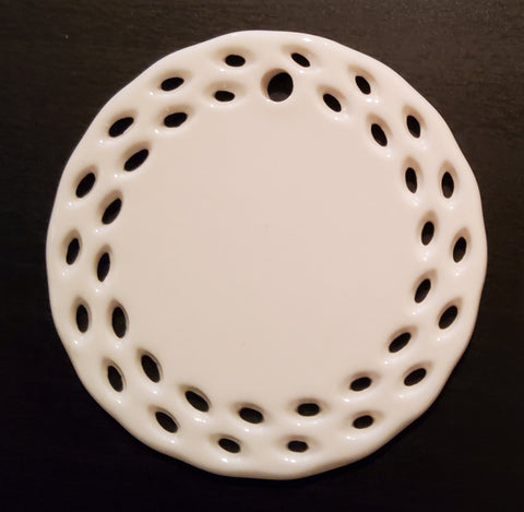 Ceramic Ornament - Round Designed