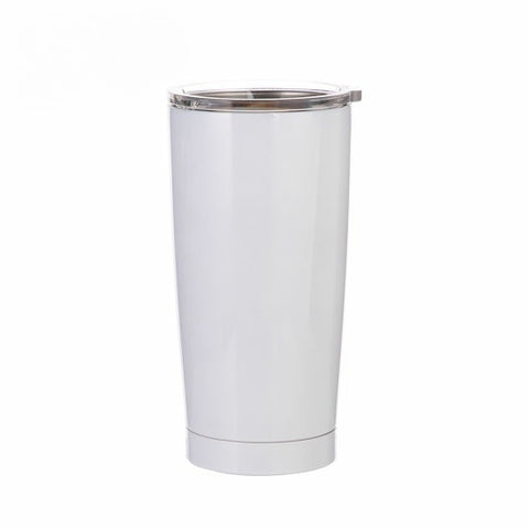 20 oz Stainless Steel Tumbler - White (25 pieces)