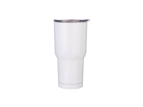 30 oz Stainless Steel Tumbler - White