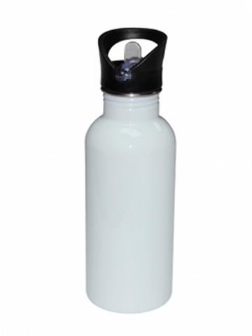 20 oz / 600 ml Stainless Steel Water Bottle - Straw Lid - White (60 pieces)