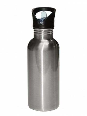 20 oz / 600 ml Stainless Steel Water Bottle - Straw Lid - Silver (60 pieces)