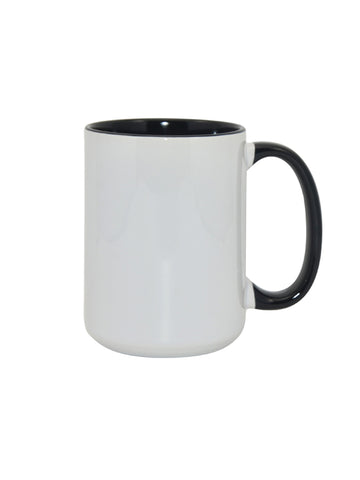 Ceramic 3 Tone Mug - Black - 15oz