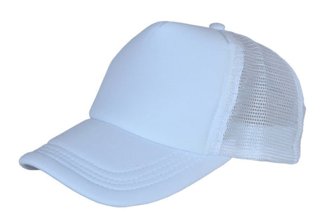 Cap - White - 5 pcs