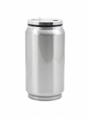 11.8 oz / 350 ml Stainless Steel Soda Can - Silver