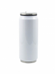 17 oz / 500 ml Stainless Steel Soda Can - White (12 pieces)