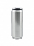 17 oz / 500 ml Stainless Steel Soda Can - Silver