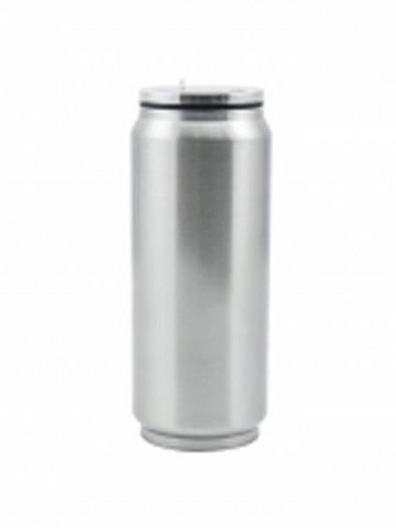17 oz / 500 ml Stainless Steel Soda Can - Silver (12 pieces)