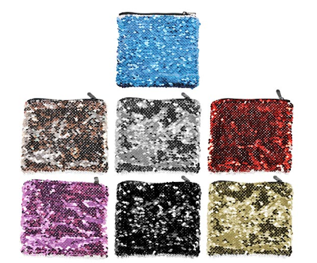 Sequin Cosmetic Pouch-Assorted Colors