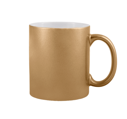 Ceramic Gold mug-11oz