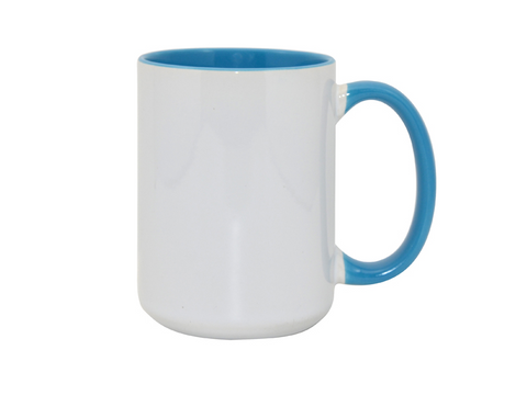 Ceramic 3 Tone Mug - Light Blue - 15oz