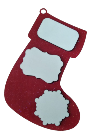 Stocking - Hardboard - Red