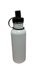 20 oz / 600 ml Stainless Steel Water Bottle - Sipper Lid - White (60 pieces)