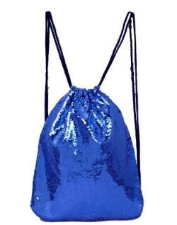 Sequin Drawstring Bag - Dark Blue