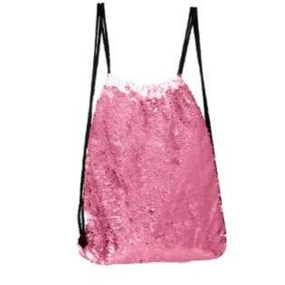 Sequin Drawstring Bag - Pink