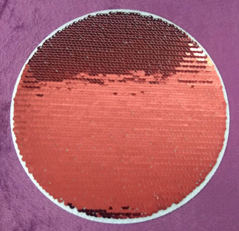 SEQUIN PATCH ROUND - RED