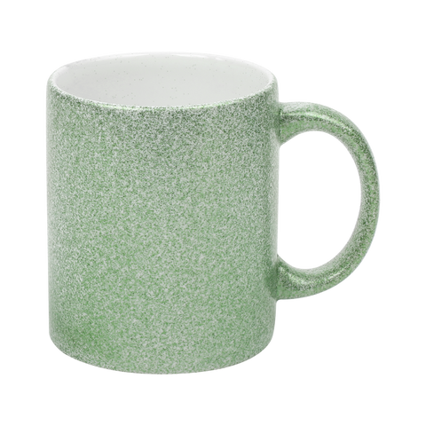 Ceramic Sparkle Green mug-11oz