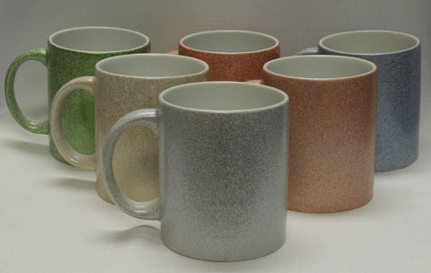 Ceramic Sparkle mugs Assorted colors - 11oz