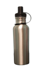 20 oz / 600 ml Stainless Steel Water Bottle - Sipper Lid - Silver (60 pieces)