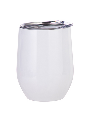 Stemless Wine Glass Stainless Steel - White