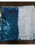 Sequin Pillow Case Square - Luna Blue