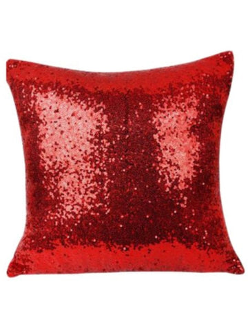 Sequin Pillow Case Square - Red
