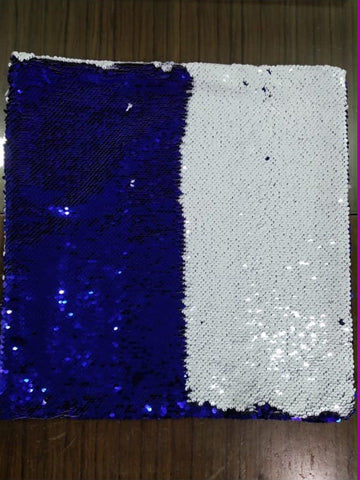 Sequin Pillow Case Square-Dark Blue