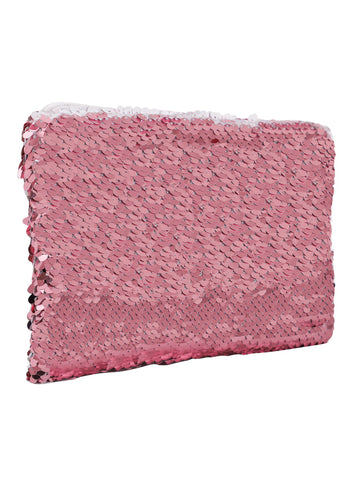 Sequin Cosmetic Pouch - Pink