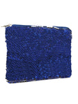 Sequin Cosmetic Pouch-Dark Blue