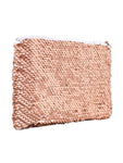 Sequin Cosmetic Pouch - Rose Gold