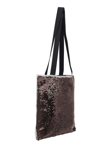 Sequin Tote Bag - Black