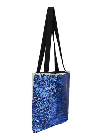 Sequin Tote Bag - Dark Blue