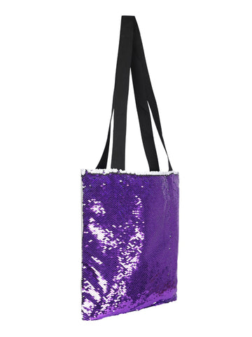 Sequin Tote Bag - Purple