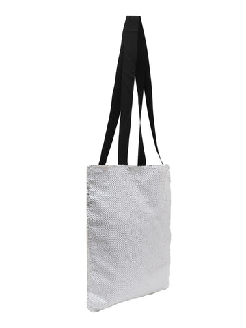 Sequin Tote Bag - White