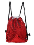 Sequin Drawstring Bag- Red