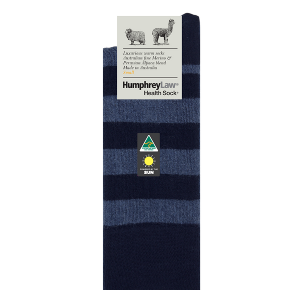 Humphrey Law Baby Alpaca Stripe Health Sock - 8 Colours
