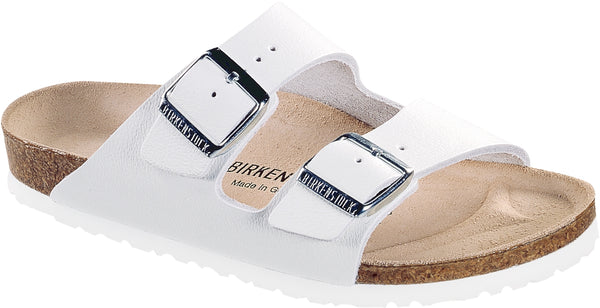 Birkenstock Arizona White - Natural Leather Narrow
