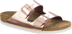 Birkenstock Arizona Metallic Copper - Natural Leather/Soft Footbed Regular