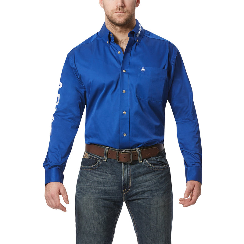 Ariat Mens Team Logo Long Sleeve Shirt - Ultramarine