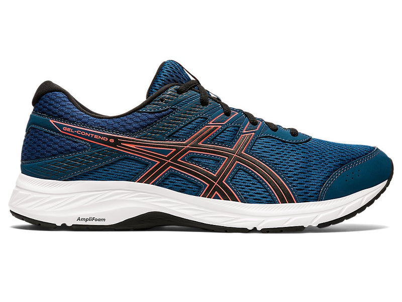 Asics Mens Gel-Contend 6 - Mako Blue/Sunrise Red