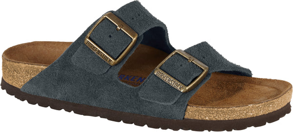 Birkenstock Arizona Navy - Suede Leather/Soft Footbed Narrow