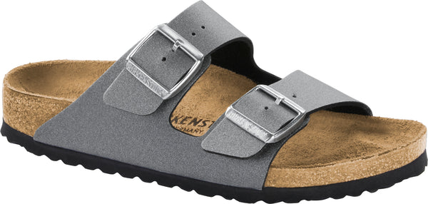 Birkenstock Arizona Icy Metallic Anthracite - Birko-Flor Narrow