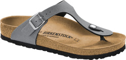 Birkenstock Gizeh Icy Metallic Anthracite - Birko-Flor Regular