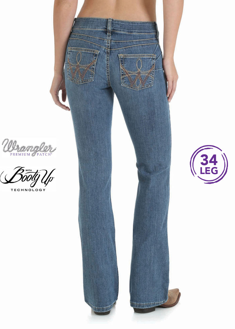 Wrangler Womens Premium Patch Booty Up Sits Above Hip Jean - Mae