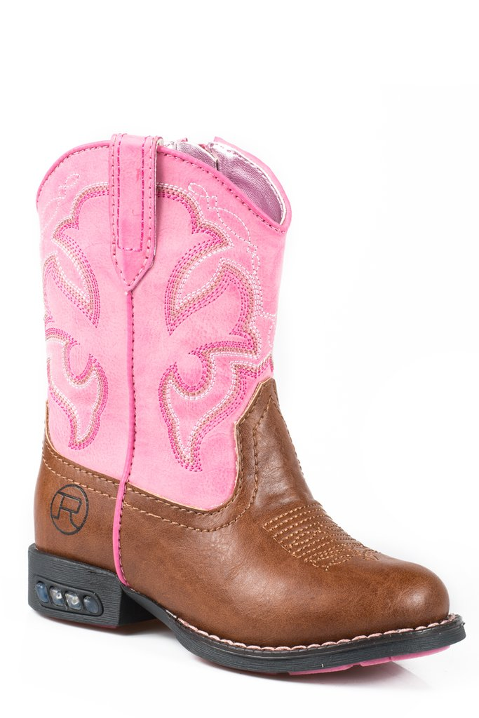 Roper Toddler Lightning Boot - Pink