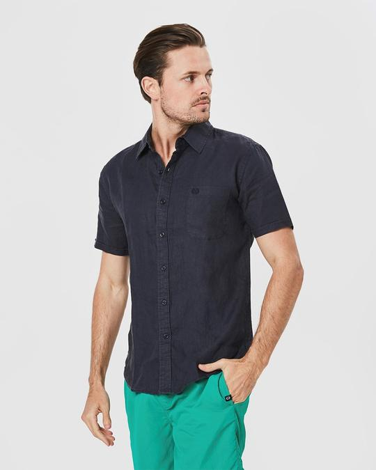 Coast Mens Short Sleeve Linen Shirt - 3 Colours