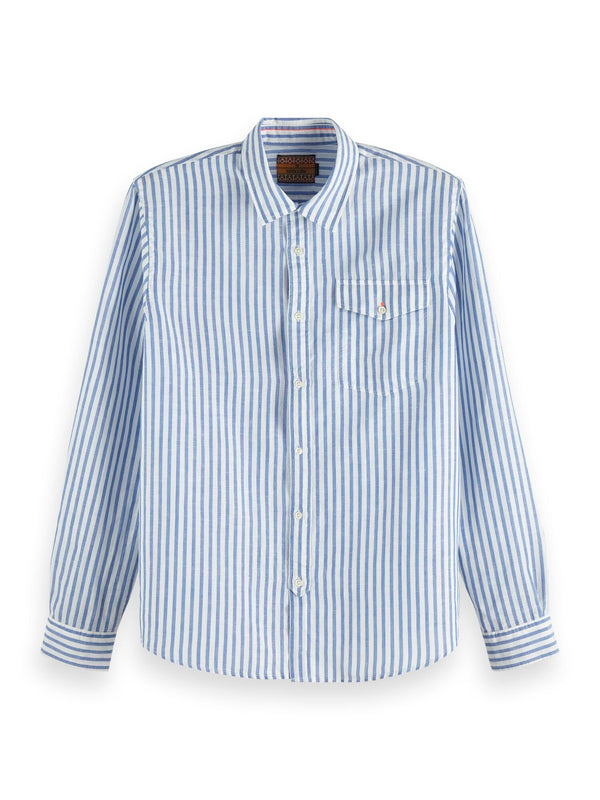 Scotch & Soda Cotton-Linen Regular Fit Shirt - 2 Colours