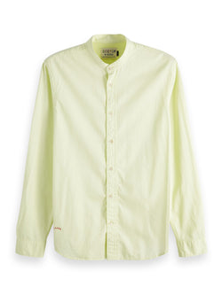 Scotch & Soda Regular Fit Collarless Shirt - 2 Colours