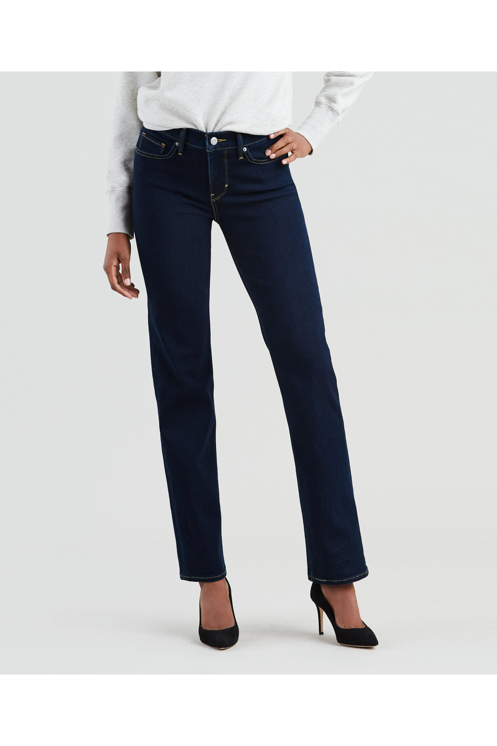 Levi's Womens 314 Shaping Straight Jeans - Open Ocean